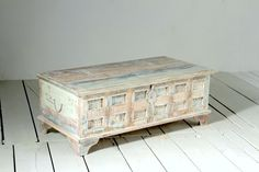 Whitewashed Trunk Coffee Table | Whiteleaf Trunk Box Coffee Table