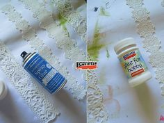 Pentart dekor: Tejfölös vödörből szobanövény kaspó Spray Glue, Peridot, Peridots