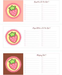 Free Printable, Party Printable, Kawaii, Paper Crafts, Kids Crafts, Stationery, Printable: FREE Changeable Text To-Do-List