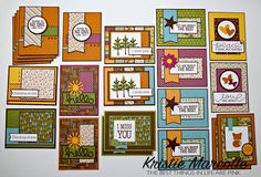 My Second 6x6 Paper Pad Tutorial Video - 24 sheets - 32 cards - no 6x6 layout template