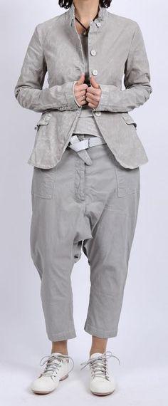 rundholz dip - Jacke mit Top Stretch grey pigment - Sommer 2016 - stilecht - mode für frauen mit format...