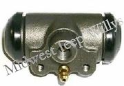 Wheel Cylinder (Front), Without Angled Hose Connection, Left or Right Hand, 1953-1967 CJ3B, 1952-1971 M38A1, 1955-1965 CJ5, 1955-1965 CJ6