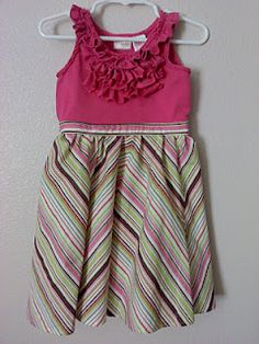Skirt to Dress Re-Fashion!!
