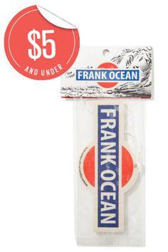 Secret Santa Gifts Under $20 That RULE   #refinery29  http://www.refinery29.com/40582#slide5  Frank Ocean Air Freshener, $5, available at Hypebeast.