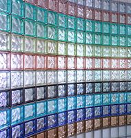 Using colored and frosted glass blocks can add a unique style and freshness to your design. At Innovate Building Solutions, we offer 104 standard and frosted colors for any window, wall or shower project. Stairs Window, Basement Windows, Glass Blocks Wall, Block Wall, Glass Block Shower, Shower Tile Designs, Glass Brick, Commercial Interiors, Frosted Glass