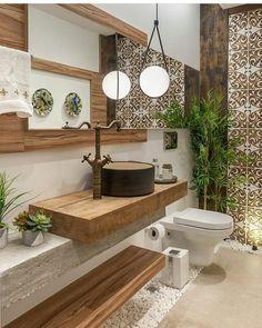 Bathroom Decorating – Home Decorating Ideas Kitchen and room Designs Outdoor Bathrooms, Rustic Bathrooms, Small Bathroom, Master Bathroom, Bathroom Ideas, Home Room Design, House Design, Spa Inspired Bathroom, Washbasin Design