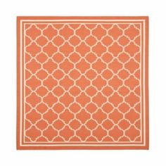 Allover Trellis Indoor/Outdoor Rug in Terra Cotta - looks more like coral here - great beach color