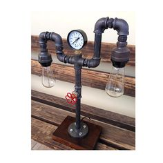 industrial pipe lamp pipe light table lamp by handmadeprojects4u
