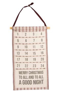 Primitives by Kathy 'Merry Christmas to All' Hanging Canvas Advent Calendar