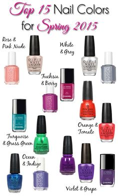 Best spring nail polish colors
