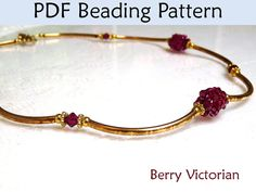 Beaded Bead Necklace Beading Pattern by SimpleBeadPatterns on Etsy