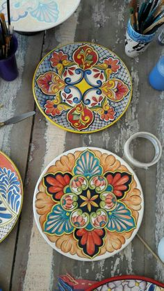 Mexican Ceramics, Candle Box, Mexican Designs, Painted Wine Glasses, Sicilian, Hand Painted Ceramics, Ceramic Painting, New Art, Art History