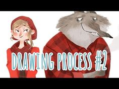 Here's a timelapse of my Red and Wolf drawing, with a bit of a hipster twist. Please hit that thumbs up if you want to see more. Drawing Process, Illustrators, Knight, Wolf, Arts And Crafts, Cartoon, Drawings, Ipad, Fictional Characters