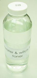 Homemade rosewater & witch hazel toner