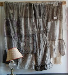 hand-dyed, hand-stitched --   curtains/art/wall hanging __ by Enhabiten/Liane Tyrrel, on flickr