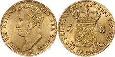 NumisBids: Schulman b.v. Auction 346, Lot 622 : KONINKRIJK DER NEDERLANDEN - WILLEM I 1815–1840 5 Gulden of gouden...