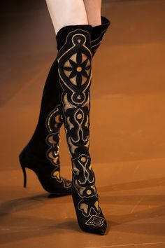 Versace   The  cutwork on these boots are magnificent. TG