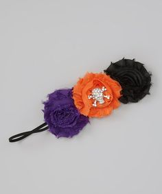 for Aleka  Take a look at this Orange & Purple Monster Flower Headband by Super Twirl on #zulily today!