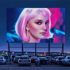 natalie portman in closer iconic moments from the silver screen are enlivened by czech artist andrew valko through his series of hyper-realistic paintings depicting dimly-lit drive through movie theaters. by designboom