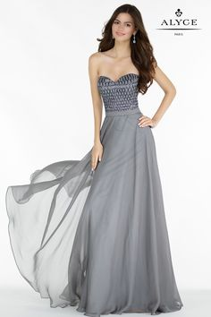 Check out the latest Alyce Paris 6687 dresses at prom dress stores authorized by the International Prom Association. Long Formal Gowns, Strapless Dress Formal, Dress Long, Formal Dresses, Nail Design Spring, Dresses For Apple Shape, Evening Dresses, Prom Dresses, Black Wedding Dresses