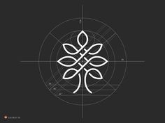 Logo Design Inspiration — Tree Grid by George Bokhua