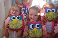 my version of the take-home owl for my daugther's night owl pj party... soooo glad to be done with that, but they were a hit!