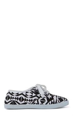 Deb Shops Aztec Print Low Top Sneakers $10.87