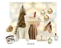 """Color Inspiration #6  Eggnog (with rum of course!) ;p"" by leslietaylor9 ❤ liked on Polyvore featuring National Tree Company, Chicwish, Christian Dior and Nest"
