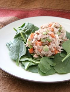 A new twist on tuna salad... with carrots, celery, jicama, green onions, and sunflower seeds.