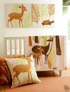 woodland baby nursery #decor #baby #animals