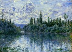 "claudemonet-art: ""Arm of the Seine near Vetheuil, 1878 Claude Monet """