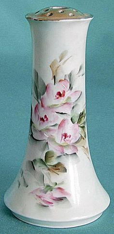Vintage Hand Painted China Hat Pin Holder