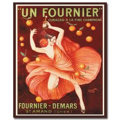 Un Fourneir Vintage Advertisement on Wrapped Canvas