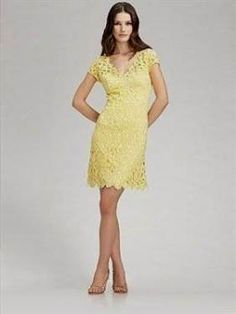 Cool yellow lace summer dress