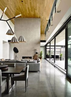 Australian practice Matt Gibson Archtecture drew inspiration from mid-century Modernist architecture in Brazil for the design of this Concrete House in a suburb of Melbourne. Concrete Interiors, Concrete Furniture, Modern Furniture, Modern Interiors, House Interiors, Furniture Design, Black Interiors, Kid Furniture, White Furniture