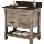 """<strong>WK Series 37"""" Single Bathroom Vanity Set</strong> by InFurniture"""