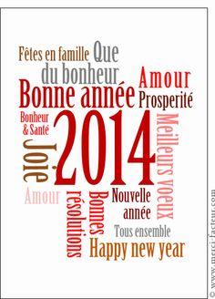 Carte Les souhaits du nouvel an pour envoyer par La Poste, sur Merci-Facteur !