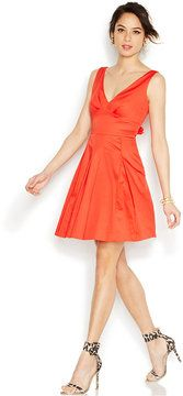 purr -- Betsey Johnson Bow-Back Pleated Cotton Dress  -- http://www.hagglekat.com/betsey-johnson-bow-back-pleated-cotton-dress/