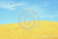 Blue sky and yellow ochre