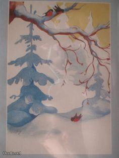 Martta Wendelin Childrens Christmas, Retro Christmas, Christmas Art, Soul Collage, Girl Face Drawing, Scenery Paintings, Scandinavian Art, Winter Art, Children's Book Illustration
