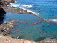 Piscina natural ROQUE PRIETO Tenerife, Places To Travel, Places To See, In Ancient Times, Canario, Canary Islands, Beautiful Places, Scenery, Around The Worlds