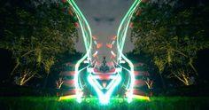 Impresionantes fotografía Light Painting realizadas con Drones