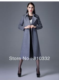 Women's Noble High-grade Double-breasted Autumn Military Temperament Long Sleeve Lapels Wool Cashmere Coat  $92.99 - 99.99