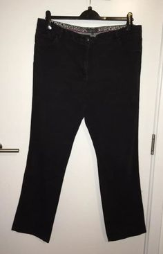 ae23dd80b6ad60 M&S Marks Spencer Per Una Charcoal Stretch Jeans Denim Trouser Size 20 M