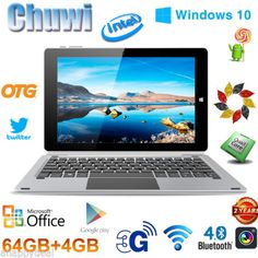 10.1'' CHUWI Tablet PC 4+64GB QuadCore Windows10+Android5.1 WIFI +Keyboard HDMIsparen25.com , sparen25.de , sparen25.info