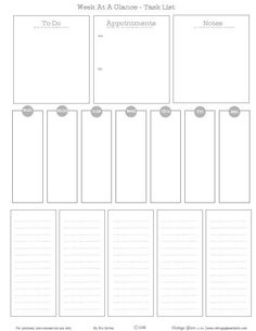 Week-At-A-Glance Task List - Free Printable Download