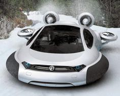 Volkswagen Aqua Curvy Hovercraft,Designed by 21-year-old Yuhan Zhang