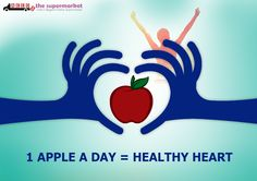 #TipOfTheDay - 1 Apple A Day = Healthy Heart