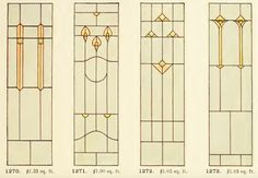 Leaded Glass from International Art Glass Catalogue by National Ornamental Glass Manufacturers Association of the United States and Canada, published in 1914.