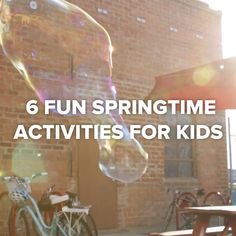6 Fun Springtime Activities For Kids #parents #crafts #kids #bubbles #spring